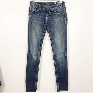 Miss Me Skinny Jeans JE5360S5L Skinny Jeans Sz 27